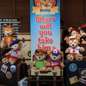 36 of 44: Character Meet and Greets at Epcot - Duffy Meet and Greet opening ceremony
