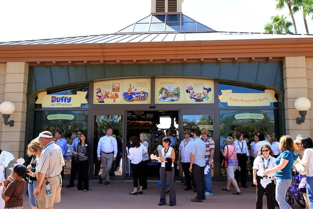 Character Meet and Greets at Epcot - Disney Traders is home to all the Duffy merchandise