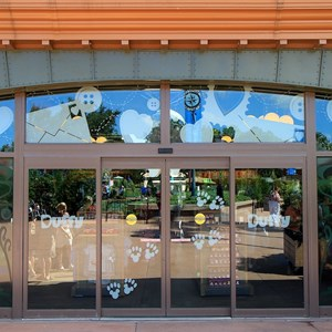 41 of 44: Character Meet and Greets at Epcot - Even the sliding glass doors have Duffy artwork