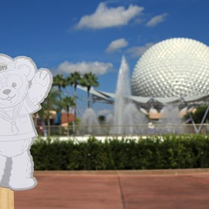 44 of 44: Character Meet and Greets at Epcot - Duffy Meet and Greet opening ceremony