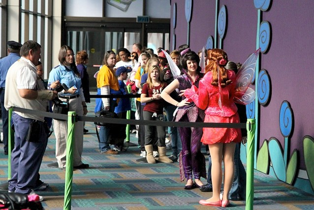 Character Meet and Greets at Epcot - The temporary location inside the Character Spot hallway