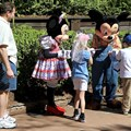 Character Meet and Greets at the Magic Kingdom - Mickey and Minnie meet and greet at at Splash Mountain, Frontierland
