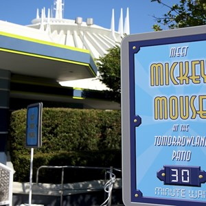 1 of 7: Character Meet and Greets at the Magic Kingdom - Mickey Mouse meet and greet at the Tomorrowland Patio