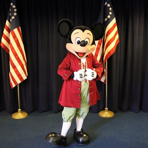 5 of 7: Character Meet and Greets at the Magic Kingdom - Mickey meet and greet inside Hall of Presidents, Liberty Square