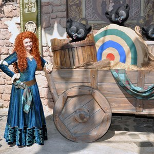 1 of 1: Character Meet and Greets at the Magic Kingdom - Merida and bear cubs