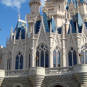 1 of 2: Cinderella Castle - Castle Fantasyland side refurbishment complete