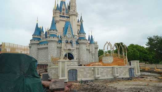 PHOTOS - Latest look at the Cinderella Castle additions and refurbishment in the Magic Kingdom