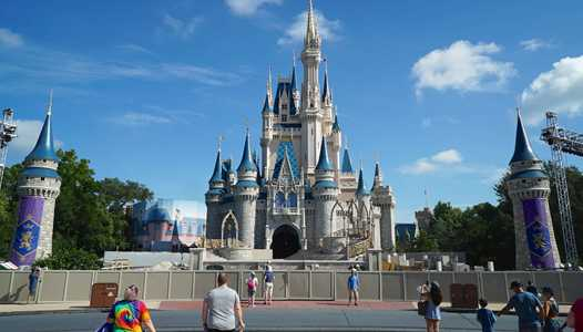 PHOTOS - Cinderella Castle forecourt construction update