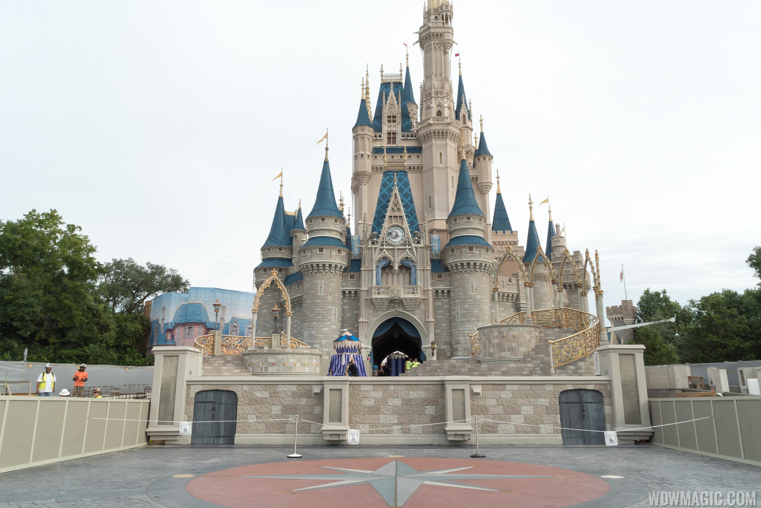 Photos Updated Look At The Cinderella Castle Forecourt