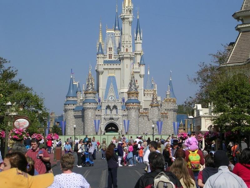 Cinderella Castle overlay construction underway