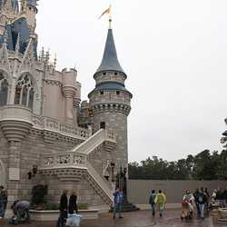 Cinderella Castle front side refurbishment