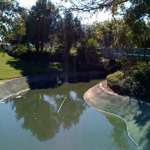 4 of 7: Cinderella Castle - Cinderella Castle moat draining