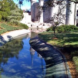 2 of 7: Cinderella Castle - Cinderella Castle moat draining