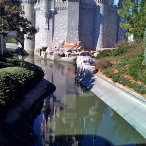 3 of 7: Cinderella Castle - Cinderella Castle moat draining