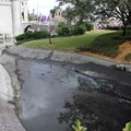 Cinderella Castle - A totally drained castle moat