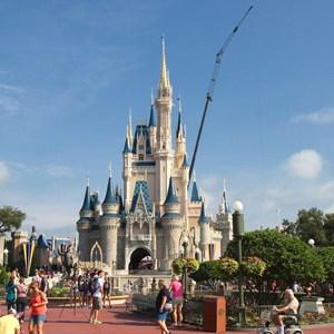 1 of 5: Cinderella's Holiday Wish - Cinderella's Holiday Wish lights installation