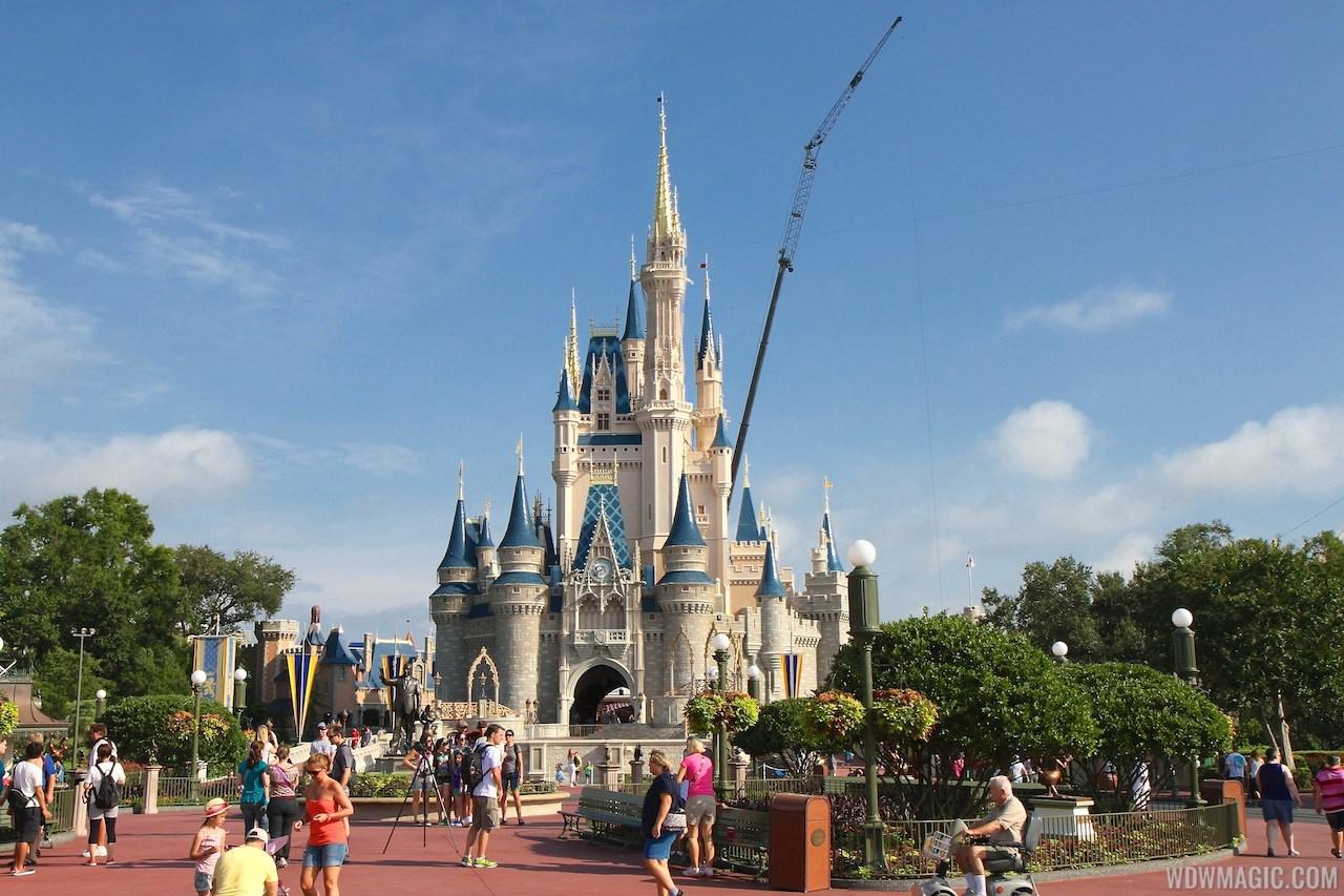 Cinderella's Holiday Wish lights installation