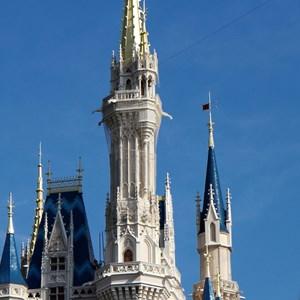 2 of 5: Cinderella's Holiday Wish - Cinderella's Holiday Wish lights installation