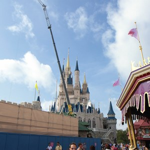 4 of 5: Cinderella's Holiday Wish - Cinderella's Holiday Wish lights installation