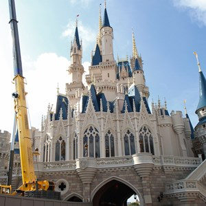5 of 5: Cinderella's Holiday Wish - Cinderella's Holiday Wish lights installation
