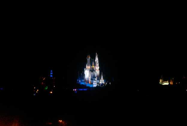 Cinderella's Holiday Wish lights installation