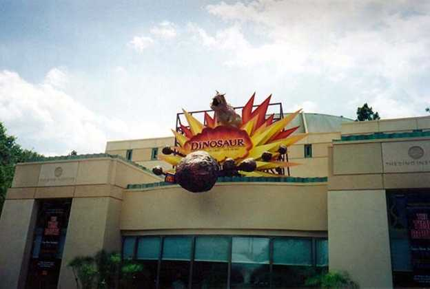 New look Dinosaur building
