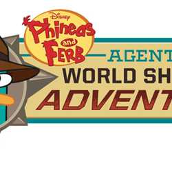 'Disney Phineas and Ferb - Agent P's World Showcase Adventure' logo
