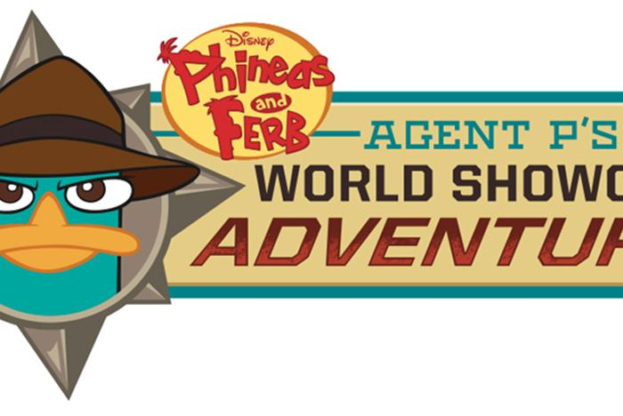 'Disney Phineas and Ferb - Agent P's World Showcase Adventure' logo