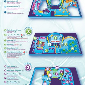1 of 1: Disney Quest - Disney Quest map