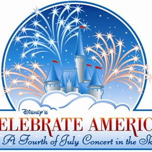 1 of 1: Disney's Celebrate America! - A Fourth of July Concert in the Sky - Disney's Celebrate America! - A Fourth of July Concert in the Sky logo. Copyright 2009 The Walt Disney Company.