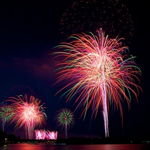 3 of 8: Disney's Celebrate America! - A Fourth of July Concert in the Sky - Show viewed from the Polynesian Resort Beach