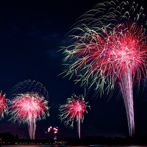 4 of 8: Disney's Celebrate America! - A Fourth of July Concert in the Sky - Show viewed from the Polynesian Resort Beach