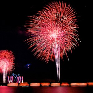 5 of 8: Disney's Celebrate America! - A Fourth of July Concert in the Sky - Show viewed from the Polynesian Resort Beach