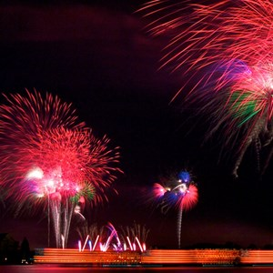 6 of 8: Disney's Celebrate America! - A Fourth of July Concert in the Sky - Show viewed from the Polynesian Resort Beach