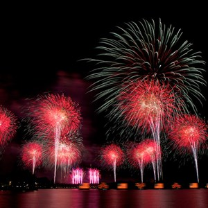 8 of 8: Disney's Celebrate America! - A Fourth of July Concert in the Sky - Show viewed from the Polynesian Resort Beach