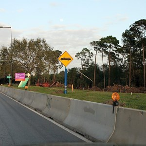 4 of 8: Disney's Hollywood Studios - Heading along on E Buena Vista Drive towards the Victory Way intersection