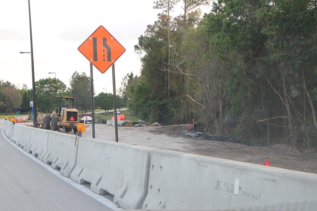 Road widening construction