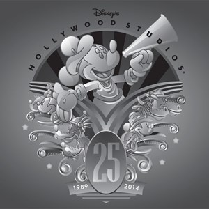 1 of 5: Disney's Hollywood Studios - Disney's Hollywood Studios 25th anniversary merchandise - Logo