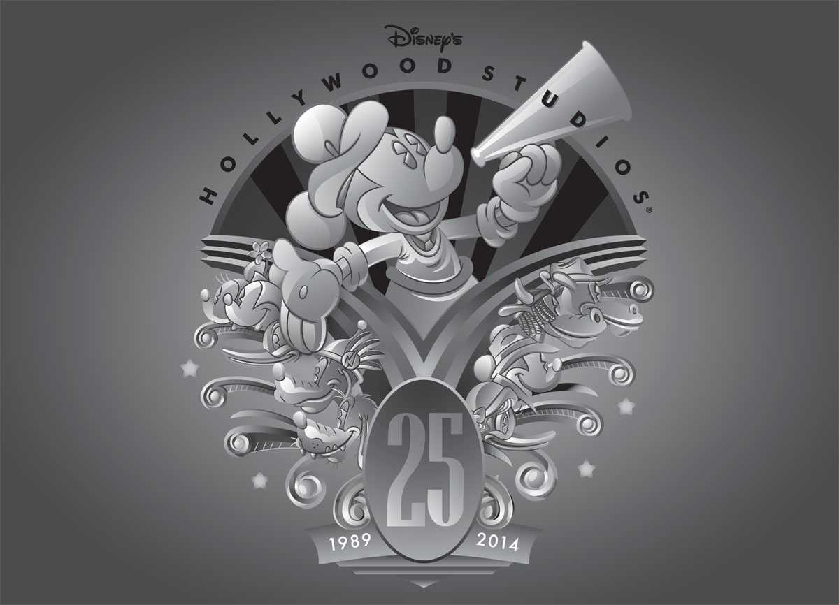 Disney's Hollywood Studios 25th anniversary merchandise - Logo