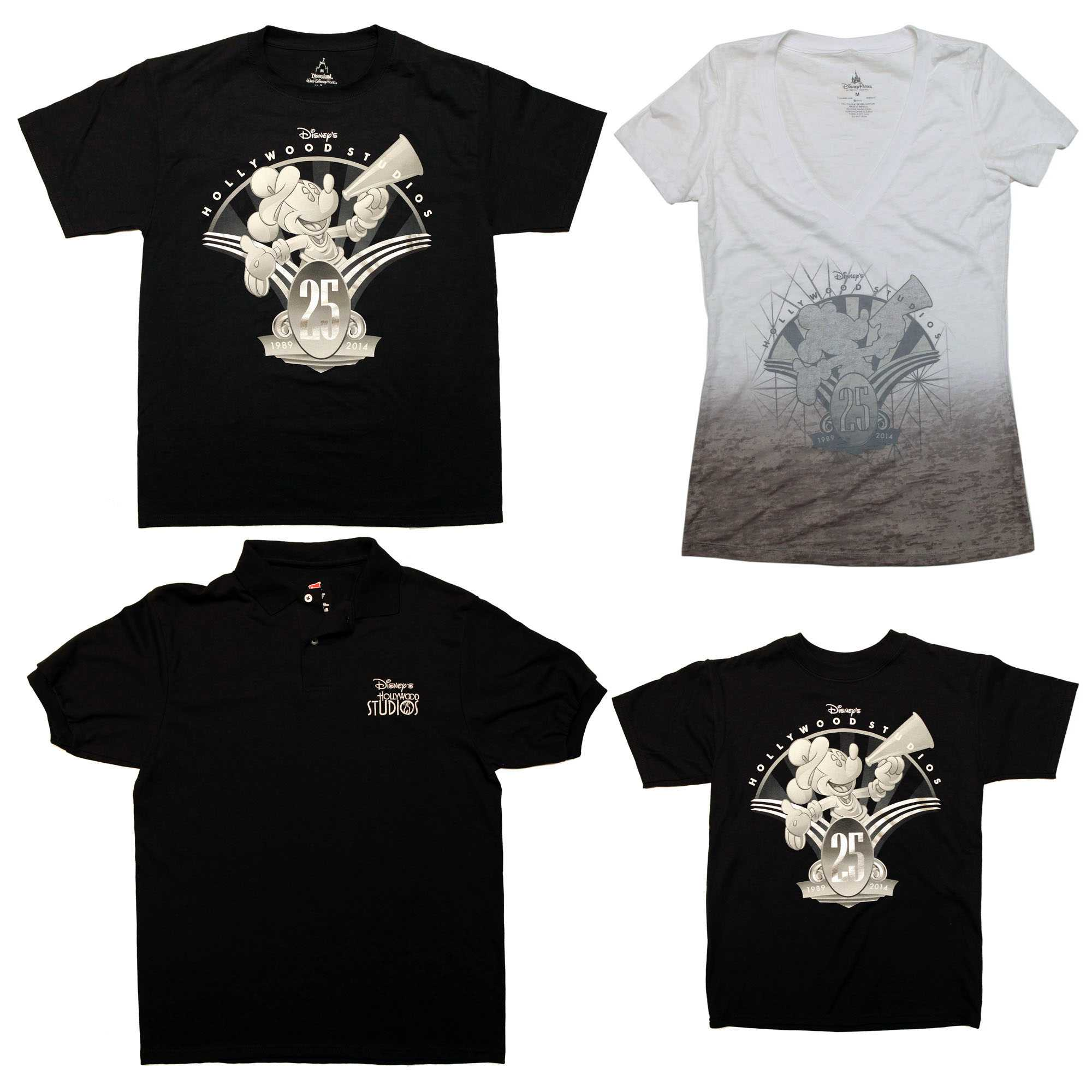 Disney's Hollywood Studios 25th anniversary merchandise - T Shirts