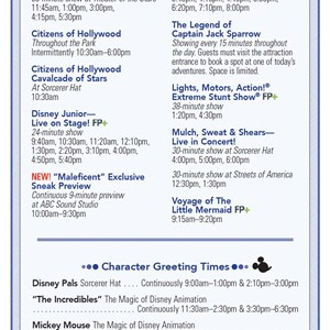 2 of 2: Disney's Hollywood Studios - Disney's Hollywood Studios 25th Anniversary times guide back