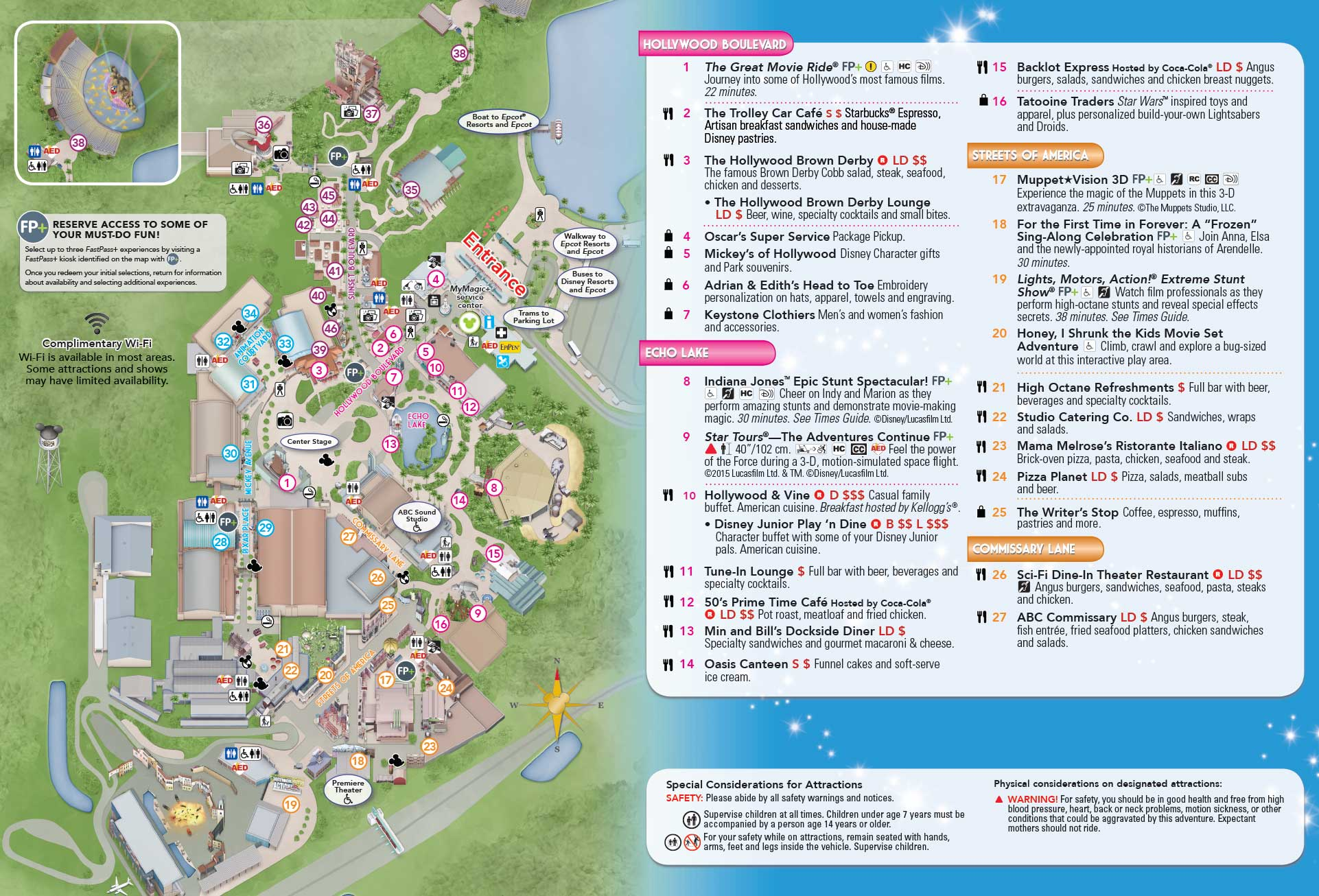 Photo New Disney S Hollywood Studios Guide Map Updated