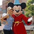 Disney's Hollywood Studios - Christina Aguilera and Sorcerer Mickey Mouse at the Disney-MGM Studios.