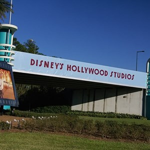 2 of 2: Disney's Hollywood Studios - Disney's Hollywood Studios temporary main entry signage