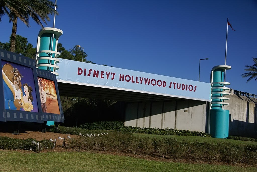 Disney's Hollywood Studios temporary main entry signage