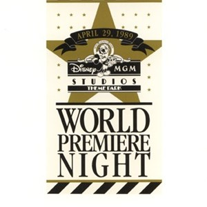 1 of 5: Disney's Hollywood Studios - World Premiere Night Brochure