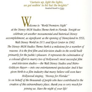 2 of 5: Disney's Hollywood Studios - World Premiere Night Brochure