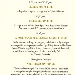 5 of 5: Disney's Hollywood Studios - World Premiere Night Brochure