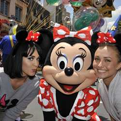 Singer Katy Perry and actress Hayden Panettiere at Disney's Hollywood Studios
