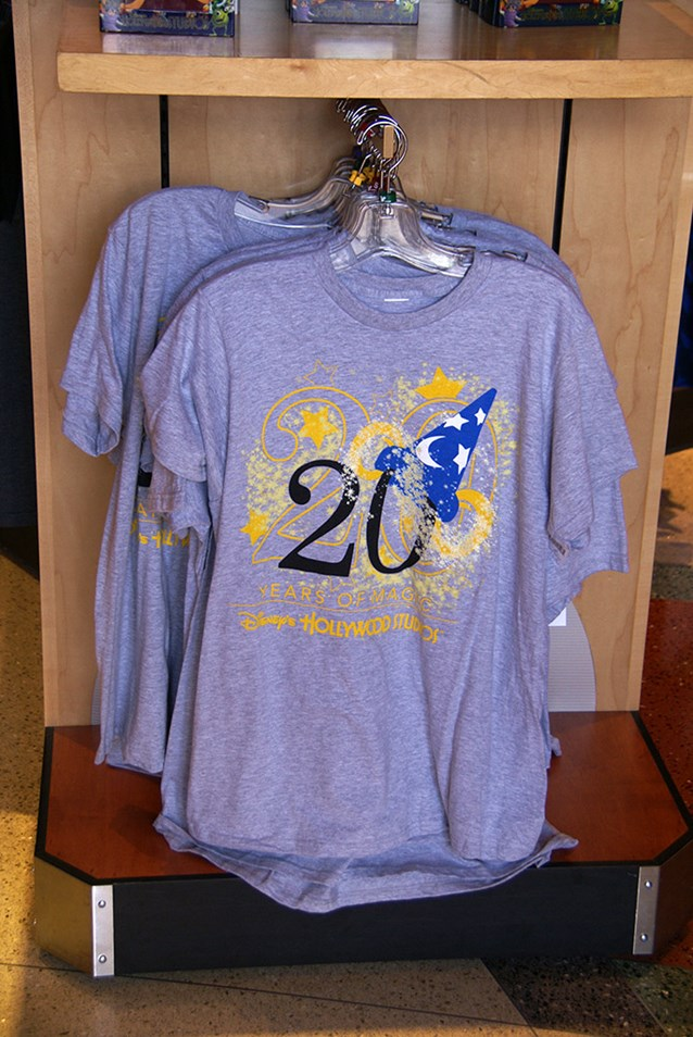 Disney's Hollywood Studios - Studios 20 Years of Magic T-shirt.